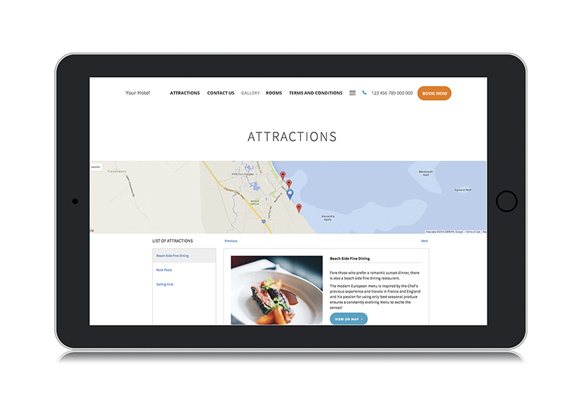 hotel website builtin templates